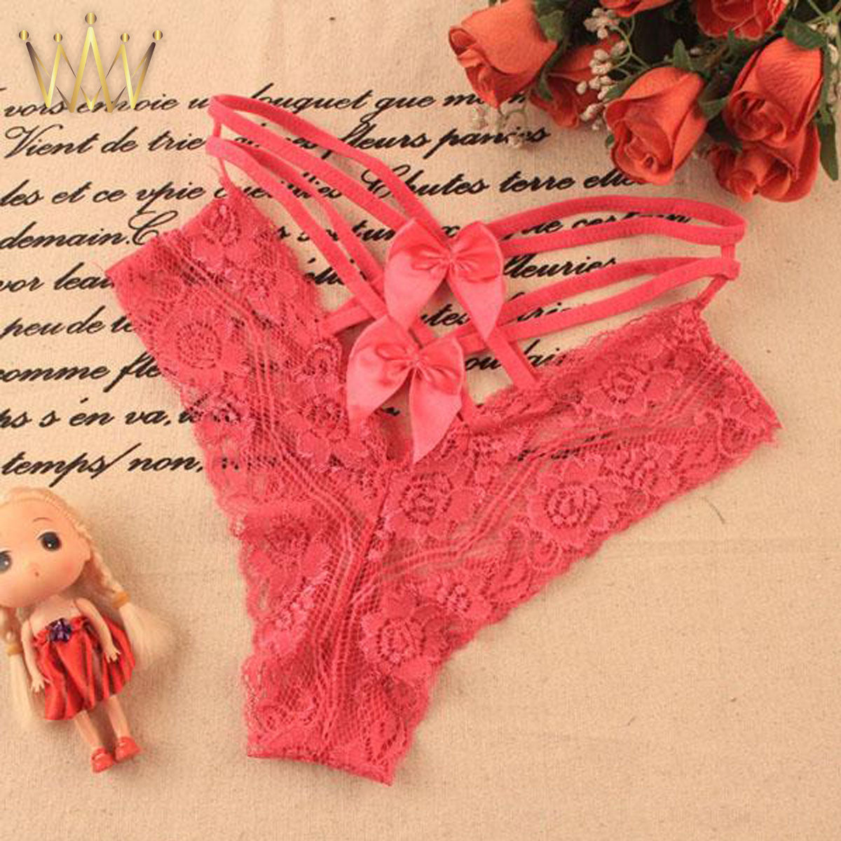 Lace Bow-knot G-String Panties
