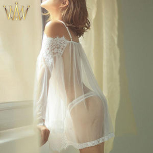 Sheer Lace Babydoll Set