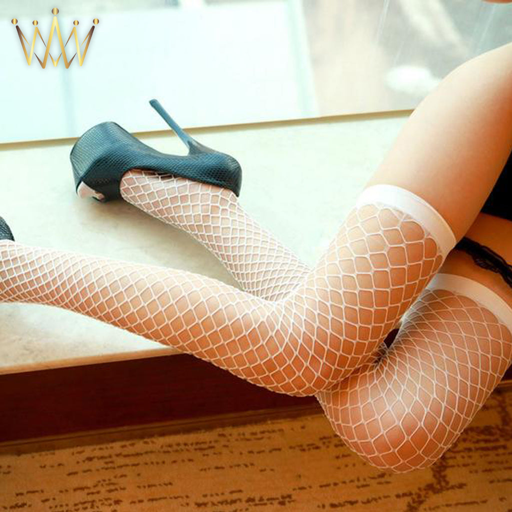 Fishnet Mesh Thigh High Stockings