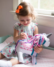 Birth Unicorn Keepsake, Baby Blanket Keepsake-Keepsake-Stitches by Natalie-Stitches by Natalie
