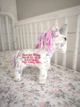 Unicorn Birth Animal Baby Gift - Keepsake Baby Gift - Newborn Gift