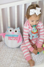 Birth Owl, Memory Owl, Keepsake, Baby Blanket keepsake-Stitches by Natalie-Stitches by Natalie