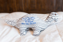 Dinosaur, Birth Blanket Keepsake, Stuffed Toy-Stitches by Natalie-Stitches by Natalie
