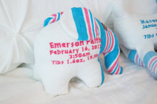 Birth Elephant, Blanket Keepsake Elephant, Keepsake Toy, Memory item-Stitches by Natalie-Stitches by Natalie