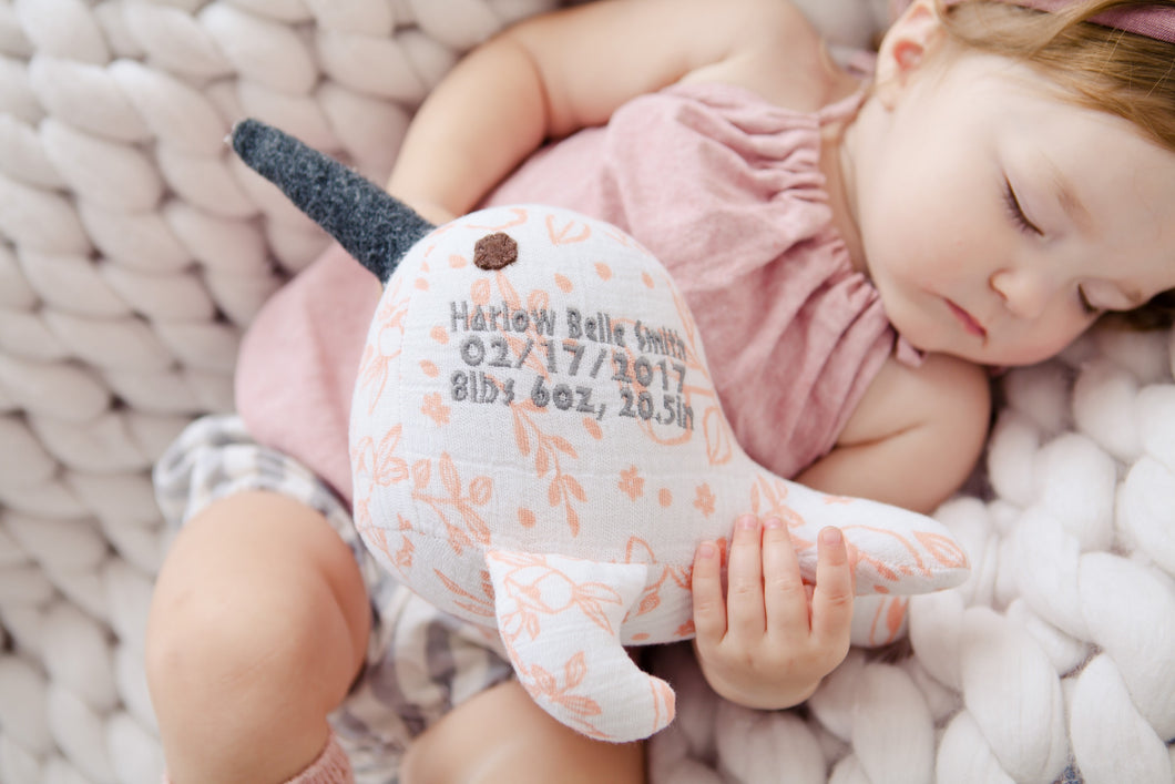 Narwhal Birth Animal keepsake