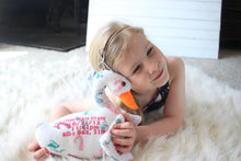 Birth Swan Keepsake, Keepsake, Handmade Baby Gift, Stuffed Swan, New Born Gift, Stitches by Natalie