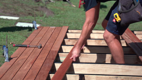 deck, decking, deck spacers, lumber, decking boards, tools, tool kits, home contractor, contractor, hammer, clamp, tape measure