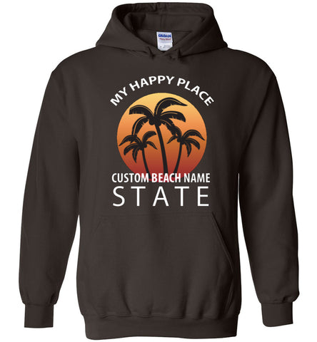 Custom The Beach Is My Happy Place Hoodie