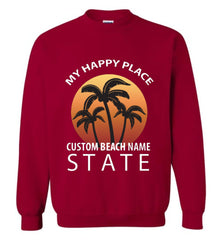 Custom The Beach Is My Happy Place Sweatshirt