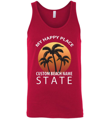 Custom Beach Happy Place Tank Top