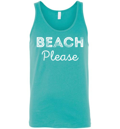 Beach Please Unisex Tank Top