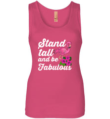 Flamingo Stand Tall and Be Fabulous Women's Tank Top