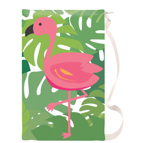 Tropical Flamingo Beach Duffel Bag