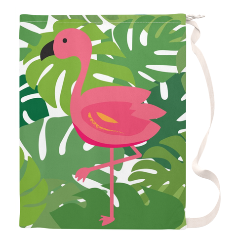 Tropical Flamingo Beach Duffel