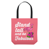 Image of Flamingo Stand Tall Be Fabulous Beach Tote Bag