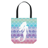 Image of Mermaid Scales Pastel Beach Tote Bag