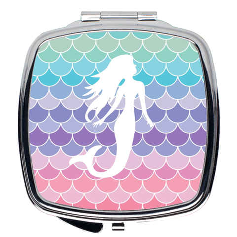 Mermaid Scales Compact Mirrors
