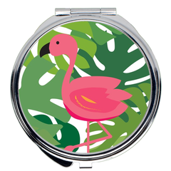 Tropical Flamingo Compact Mirror