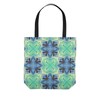 Image of Batik Polynesian Bali Tropical Blue Green Tote Bag