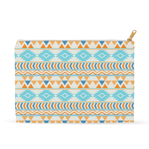 Aztec Beach Blue Accessory Pouch