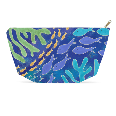 Coral Life Accessory Pouch