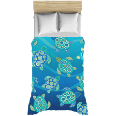 Sea Turtles Blue Green Duvet Bed Cover
