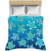 Image of Sea Turtles Blue Green Duvet Bed Cover