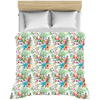 Image of Tropical Flamingo Hibiscus Floral Duvet Covers