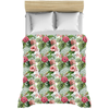 Image of Hibiscus Flowers Tropical Leaves Duvet Covers