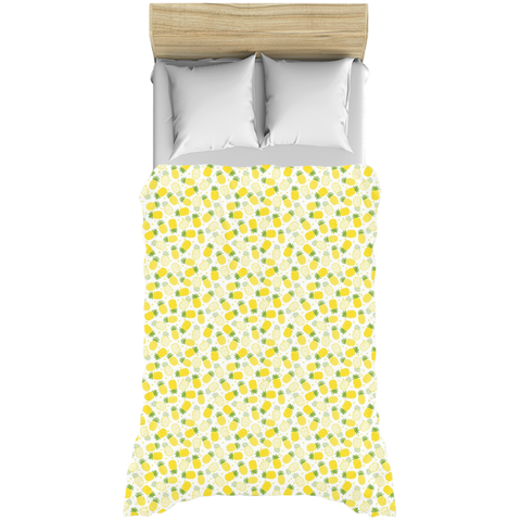 Happy Little Yellow Pineapples Tropical Duvet Covers
