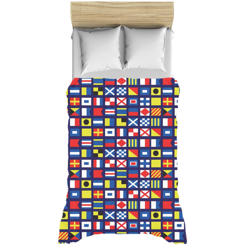 Nautical Maritime Flags Duvet Covers