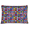 Image of Nautical Maritime Flags Dog Pet Bed