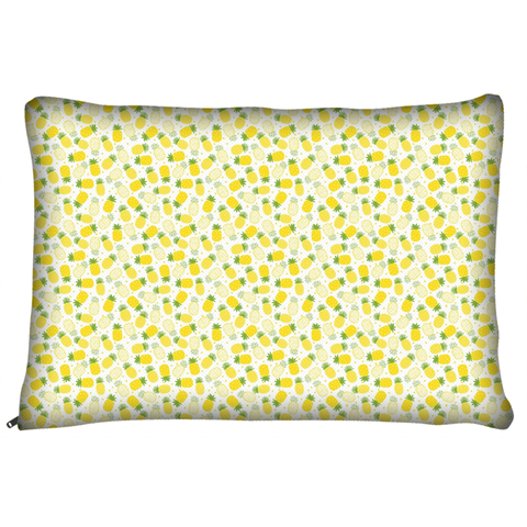 Yellow Pineapple Pattern Dog Bed