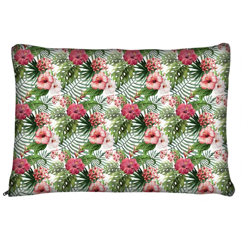 Tropical Hibiscus Flowers Dog Pet Bed