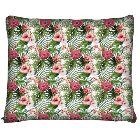 Hibiscus and Tropical Floral Dog Bed