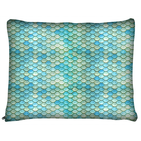 Mermaid Scales Beach Ocean Dog Bed