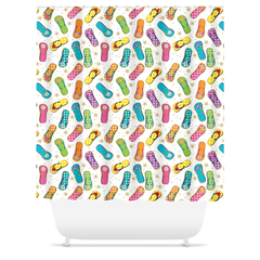 Beach House Flip Flop Shower Curtains