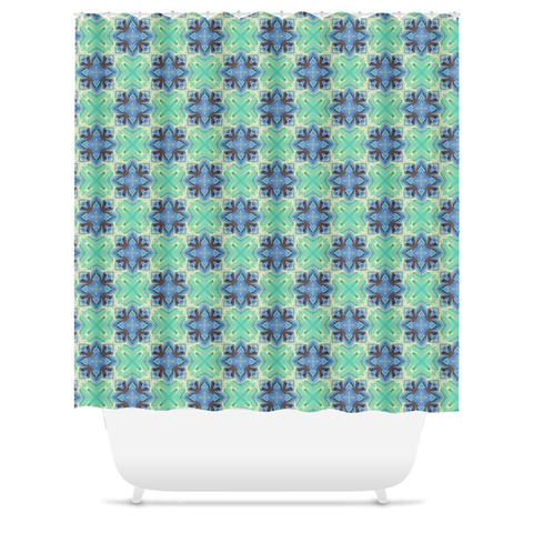 Batik Pattern Shower Curtain