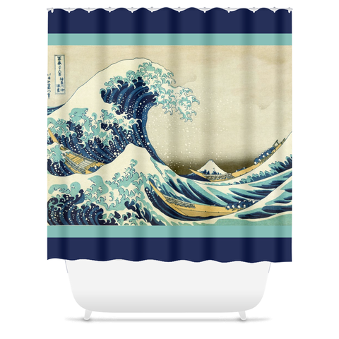 Great Wave off Kanagawa Shower Curtain