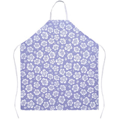 Hawaiian Lavender Hibiscus Floral Apron