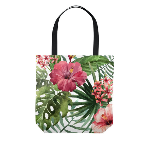 Tropical Hibiscus Flowers Tote Bag