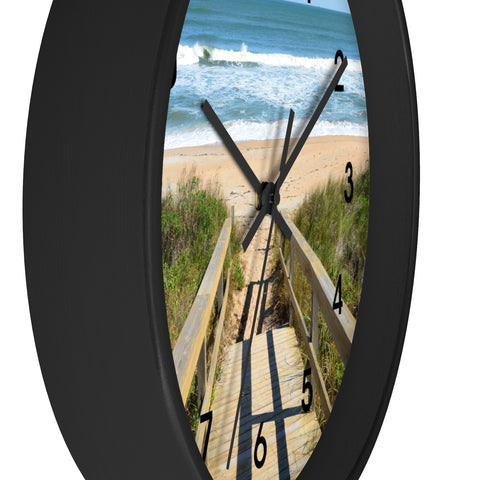 Beach Walkway Wall Clock