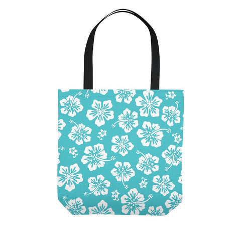 Hawaiian Hibiscus Pareo Tote Bag