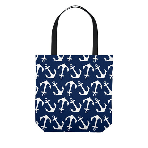 Nautical Navy Anchor Tote Bag