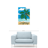 Image of Beach Is My Happy Place Premium Canvas Gallery Wrap