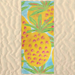 Pineapples Beach Vacation Towel