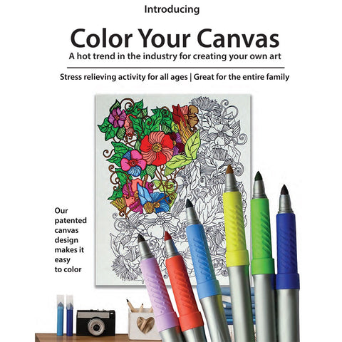 Summertime Color Your Canvas Art