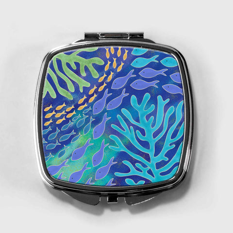 Under the Sea Compact Mirror
