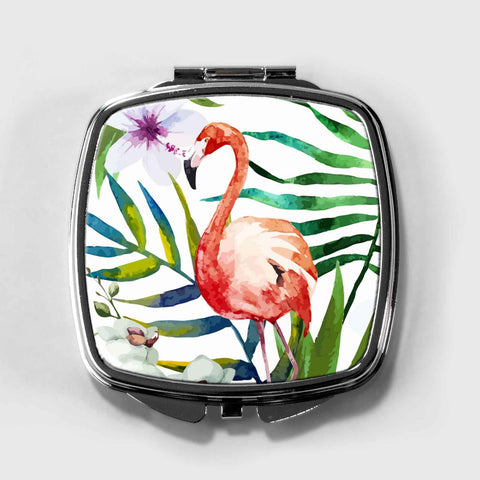Flamingo Bird Compact Mirror