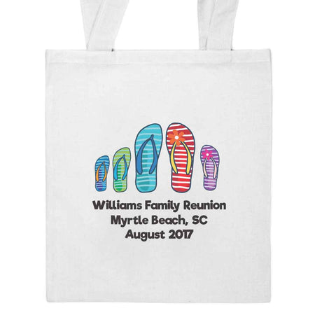Flip Flop Family Reunion Beach Tote
